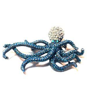 Swarovski Octopus 🐙 Pin Brooch